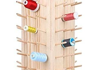 New brothread 84 Spools 360A Fully Rotating Wooden Thread Rack Thread Holder Organizer for Sewing  Quilting  Embroidery  Hair braiding and Jewelry