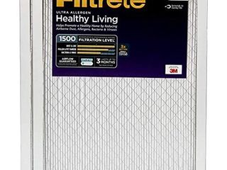 Filtrete Healthy living Ultra Allergen Reduction Filter  MPR 1500  20 x 25 x 1 Inches  2 Pack