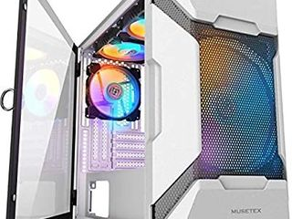 MUSETEX MESH Micro ATX Tower Case with 4 PCS A ARGB Fans Pre Installed and 2 PCS AUSB 3 0 Ports  Magnetic Design Opening Tempered Glass Panel   Mesh Front Panel Gaming PC Casei1 4MK7 WN4i1 4 i1 4 i1 4 i1 4 i1 4 i1 4 i1 4 i1 4