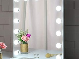BEAUTME Hollywood Makeup Vanity Mirror with lights Bedroom lighted Standing Tabletop Mirror