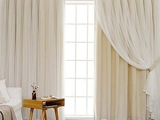 Blackout Curtains for Bedroom   living Room   Thermal Insulated with Grommet  Soft Touch Tulle  Privacy Protect  Room Darkening Drapes