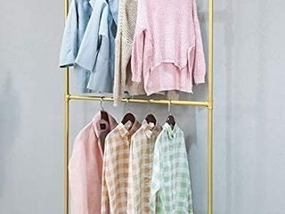 FODUE Industrial Pipe Clothes Rack