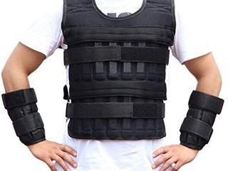 Sports Weighted Vest Adjustable Workout Equipment Weighted Sleeveless Garment for Fitness Running Training