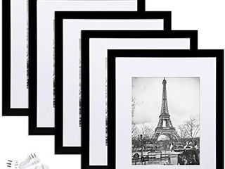 Visit the upsimples Store 4 6 out of 5 stars 17 491Reviews upsimples 11x14 Picture Frame Set of 5 Display Pictures 8x10 with Mat or 11x14 Without Mat Wall Gallery Photo Frames Black
