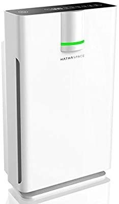 Hathaspace Smart True HEPA Air Purifier 2 0 for Extra large Rooms with Medical Grade H13 HEPA Filter  5 in 1 Home Air Cleaner for Allergies  Asthma  Pets  Odors  Smokers  1500  Sq Ft Coverage