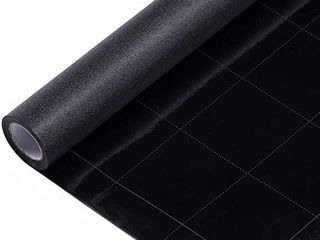 VElIMAX Static Cling Total Blackout Window Film Privacy Room Darkening Window Tint Black Window Cover 100  light Blocking No Glue  17 7 x 78 7 inches