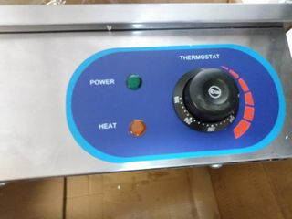 Commercial Electric Countertop Griddle 14  1500W Stainless Steel Adjustable Temperature Control