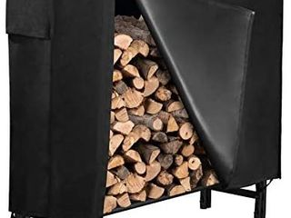 GASPRO 4FT Firewood log Rack with Cover  Heavy Duty Firewood Storage Holder Set for Outdoor and Indoor Use  Easy to Assemble