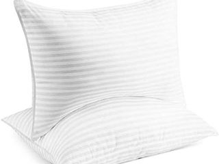Beckham Hotel Collection Bed Pillows for Sleeping   Queen Size  Set of 2   Soft Allergy Friendly  Cooling  luxury Gel Pillow for Back  Stomach or Side Sleepers