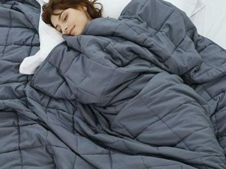 Weighted Idea Cool Weighted Blanket Twin Size 15 lbs Adults  48 x78  Grey