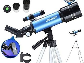 AOMEKIE Telescopes for Adults Astronomy Beginners 70mm 400mm Kids Telescope with Phone Adapter Tripod Finderscope Erect Image Diagonal and Moon Filter