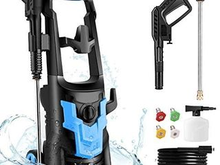 WHOlESUN 3600PSI Pressure Washer 2 6GPM 1900W Electric Power Washer with 4 Nozzles for Cleaning Cars  Driveways  Garden