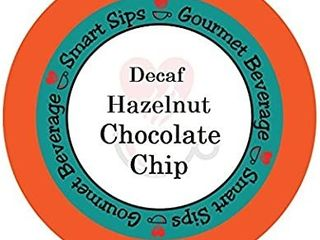 Smart Sips  Decaf Hazelnut Chocolate Chip Coffee  24 Count for All Keurig K cup Machines