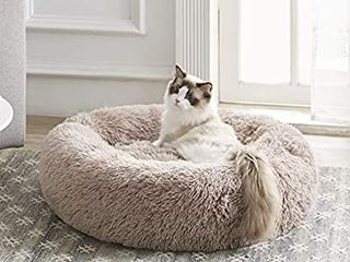Western Home Faux Fur Dog Bed   Cat Bed