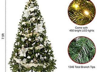 WBHome 7 5FT Artificial Christmas Tree with Ornaments