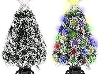 GEX Christmas Tree Prelit 2ft Mini Small Tabletop with lights Multi Color