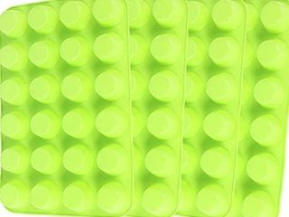 Silicone Mini Muffin Pan  Qtopun 4 Pack 24 Cups Silicone Mold Cups Baking Pan  Silicone Muffin Tins Baking Moulds Green