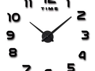 Vangold Frameless DIY Wall Clock  3D Mirror Wall Clock large Mute Wall Stickers for living Room Bedroom Home Decorations
