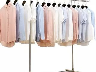 Heavy Duty large Garment Rack Stainless Steel Clothes Drying Rack Commercial Grade Extendable 47 77inch Clothes Rack Adjustable Clothes Hanger Rolling Rack with 4 Casters Tool Golves 10 Hook