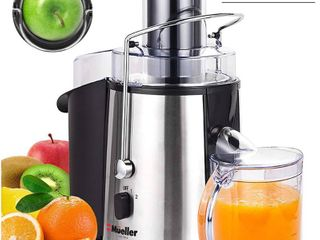 Mueller Austria Juicer Ultra 1100W Power  Easy Clean Extractor Press Centrifugal Juicing Machine  Wide 3  Feed Chute for Whole Fruit Vegetable  Anti drip  High Quality  BPA Free  large  Silver