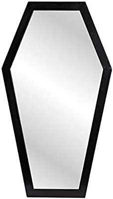 Gothic Curiosities large Coffin Mirror   23 Inch Gothic Decor for Bedroom Or Bathroom   Hooks and Hardware Included  Ready to Hang