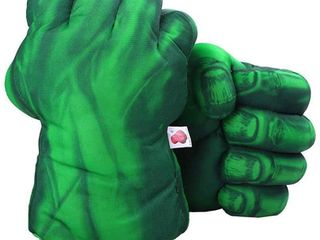 1 Pair Green Gloves  Green Smash Hands Big Soft Plush Fists Parent Child Interactive Toy