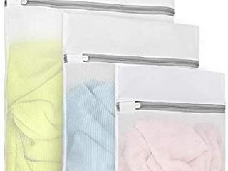 3Pcs Durable Fine Mesh laundry Bags for Delicates  1 large 16 x 20 Inches  1 Medium 12 x 16 Inches  1 Small 9 x 12 Inches