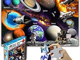 Think2Master Solar System   Space Exploration 100 Pieces Jigsaw Puzzle Fun Educational Toy for Kids  School   Families  Great Gift for Boys   Girls Ages 4  to Stimulate learning  Size 23 4a X 16 5a