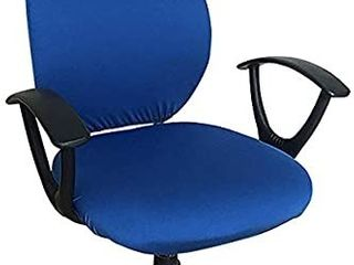 Office Chair Cover   Protective   Stretchable Universal Chair Covers Stretch Rotating Chair Slipcover  Royal
