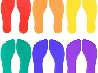 60 pcs Set of Six Colorful Foot Shaped Floor Markers
