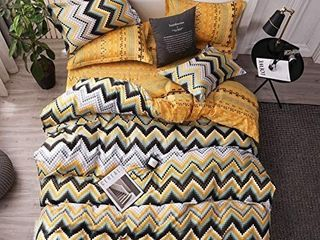 Duvet Cover Set Twin Size Boho Style Chevron Striped Pattern Design Reversible luxury Soft Bedding Set Comforter Cover  cover only not a comforter