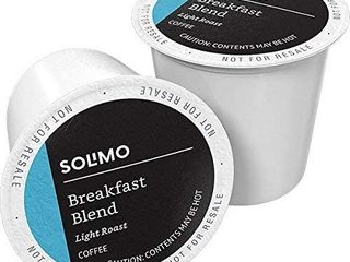 Amazon Brand   100 Ct  Solimo light Roast Coffee Pods  Breakfast Blend  Compatible with Keurig 2 0 K Cup Brewers