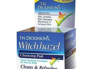 T N  Dickinson s Witch Hazel Cleansing Pads  Clean   Refreshes 60 ea