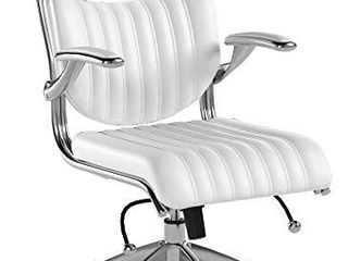 Modway Escape Ribbed Faux leather EIrgonomic Computer Desk Office Chair in White