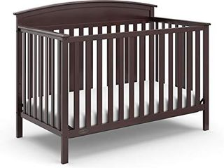 Stork Craft Graco Benton 4 in 1 Convertible Crib  Espresso  Solid Pine and Wood Product Construction  Converts to Toddler Bed  Day Bed  and Full Size Bed  Mattress Not Included