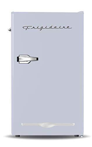Frigidaire EFR376 MOONBM Retro Bar Fridge Refrigerator with Side Bottle Opener  3 2 cu  Ft  Moonbeam