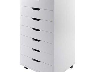 Winsome Halifax Storage Organization  7 drawer  White