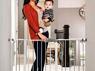 Regalo Easy Step 49 Inch Extra Wide Baby Gate  Includes 4 Inch and 12 Inch Extension Kit  4 Pack of Pressure Mount Kit and 4 Pack of Wall Mount Kit  Platinum