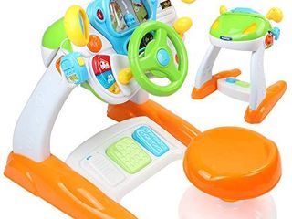 AMOSTING Pretend   Play Ride On Toys for Toddler Boys Girls learning   Educational Baby Driver Toy Cars for Preschool Kids