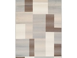 SUPERIOR Designer Clifton Collection Area Rug   Modern Area Rug  8 mm Pile  Geometric Trellis Pattern with Jute Backing  Beige  8  x 10