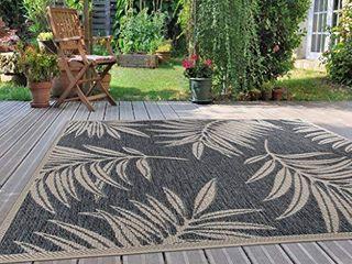 Rugshop leaf Design Indoor Outdoor Area Rug 5  x 7  Blue