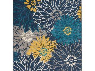 Nourison Passion Floral Floral Blue Area Rug