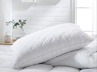 Amazon Basics Customizable Down Alternative Pillow   Pack of 2  Standard