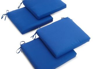 Blazing Needles Twill 19 Inch by 20 Inch by 3 1 2 Inch Zippered Cushions  Royal Blue  Set of 4
