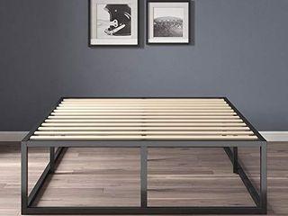 Zinus Joseph 14 Inch Metal Platforma Bed Frame   Mattress Foundation   Wood Slat Support   No Box Spring Needed   Sturdy Steel Structure  Full
