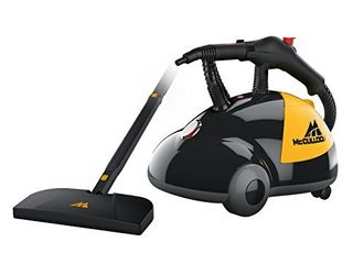 McCulloch MC1275 Heavy Duty Steam Cleaner with 18 Accessories  Extra long Power Cord  Chemical Free Pressurized Cleaning for Most Floors  Counters  Appliances  Windows  Autos  and More  Yellow Grey