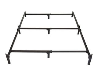Amazon Basics 9 leg Support Metal Bed Frame   Strong Support for Box Spring   Mattress Set   Tool Free Easy Assembly   Full Size Bed