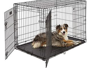 large Dog Crate 1542DDU  MidWest ICrate Double Door Folding Metal Dog Crate large Dog  Black