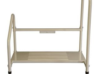 Step2Bed Bed Rails For Elderly with Adjustable Height Bed Step Stool   lED light for Fall Prevention   Portable Medical Step Stool comes with Handicap Grab Bars making it easy to get in and out of bed