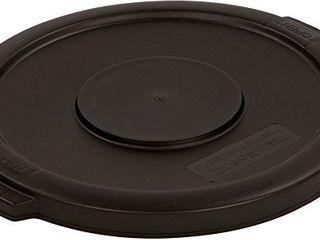 Carlisle 34101103 Bronco Round Waste Bin Food Container lid  10 Gallon  Black
